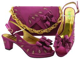 Couleur italienne Magenta Chaussures avec sacs d'allumettes Chaussures et ensemble de sacs ensembles africains 2018 Femmes Italien Parti Africain Pompes Chaussure MM1081 ? partir de fabricateur