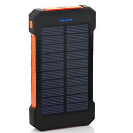 banco de poder emoji Rebajas Nuevo Banco de energía solar superior a prueba de agua 4000mAh para Xiaomi Smartphone con luz LED Cargador solar USB Powerbank Puertos para Iphone 8 X
