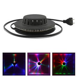 Lampada a girasole online-AUCD Mini 48 LED 8W RGB Girasole LED Lampada a sospensione a sospensione Lampada da palcoscenico Barra da discoteca Micro rotante LS-RGB48