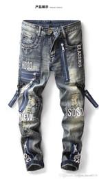 2019 piercing della chiusura lampo Primavera e autunno jeans vintage vintage piercing buco alla moda Chao per uomo, cerniera europea e americana con cerniera sconti piercing della chiusura lampo