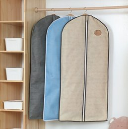 d0f563508b4c Wardrobe Hanging Bag Clothing Dustproof Bag Non Woven Overcoat Suit Cover  Long Coat Dress Storage Bags