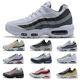 95 zapatillas deportivas online-Nuevo Ultra 95 OG Blanco Negro Gris Neon Voltio Aniversario Zapatillas de deporte para hombre Entrenadores Tenis Diseñador de lujo Hombres Zapatillas de deporte Tamaño 40-46
