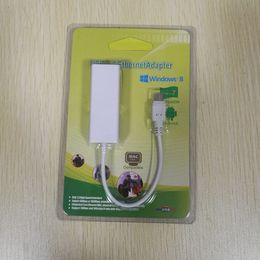rj45 della rete da tavoletta Sconti 50pcs Micro USB 2.0 / USB 2.0 a RJ45 Lan Scheda di rete Ethernet Scheda 100Mbps per laptop Android Tablet PC
