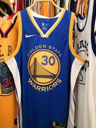 Печать на баскетбольном трикотаже онлайн-К 2020 году новые мужчины воины 30# Стивен Карри дорожный синий Swingman баскетбол Джерси АУ горячего прессования напечатано Наименование Количество аутентичные США размер S-ХХL