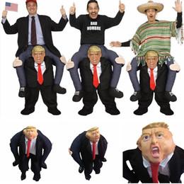 trajes de montar Rebajas Donald Trump Pants Party Dress Up Ride On Me Disfraces de cosplay de la mascota Llevar de vuelta Novedad Ride Pants Party Supplies LJJA1496