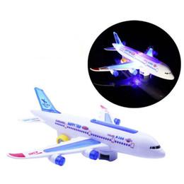 2019 tir à lame en gros Nouveau bricolage Assemblée Airbus avions pilote automatique flash son avion musique éclairage jouets électrique avion bricolage jouet pour enfants enfants cadeau