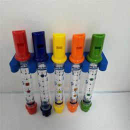 2020 tubo de flauta Infantis e casa de banho crianças pequenas Educacional sopro Bath Água Toy Up Música Flute cinco cores da tubulação de água Chuveiro tubo de flauta barato
