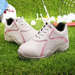 zapatillas de deporte a prueba de agua para mujer Rebajas Womens Pgm zapatos de golf a prueba de agua transpirable zapatillas de deporte de entrenamiento mujer peso ligero antideslizante deportes zapatos de atletismo # B1339