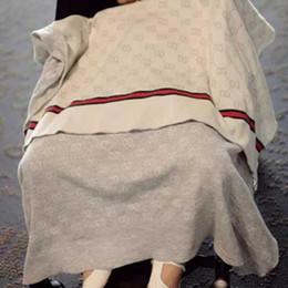 Baby-decken für den sommer online-INS Babydecke Luxus Sommer Qualität Decke Sommer Strand Teppich Beige Strickdecke Für Baby 90 * 120 CM