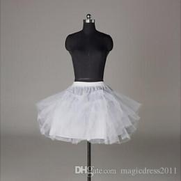 En stock Jupons Accessoires De Mariage 3 Couches Sans Cerceau Crinoline Blanc Fleur Fille Robe Enfant Princesse Jupon ? partir de fabricateur