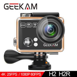 2019 câmera de vídeo h2 Câmera de ação GEEKAM H2R / H2 Ultrafino HD 4K / 25fps WiFi 2.0