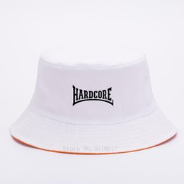 2020 chapéus frescos do sol para mulheres Hardcore men women bucket hat Cool Hardcore hardcore hat 2020 summer Cotton Fisherman Sun cap hats for boy and girl desconto chapéus frescos do sol para mulheres