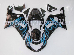 Blue Flames GSX-R600 Fairing For SUZUKI GSXR600 GSXR750 2001-2003 013 B6
