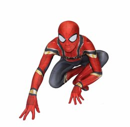 2020 costumi del corpo intero per halloween Hot Sale Mens di alta qualità adulta Halloween Spiderman costume Lycra Zentai SuperHero tema costume cosplay Suit Full Body sconti costumi del corpo intero per halloween