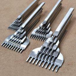 4 Unids / set 3/4/5 / 6mm Herramientas de Artesanía en Cuero Agujero Perforado Cordaje Costura 1 + 2 + 4 + 6 Prong Make Fit Fitting desde fabricantes