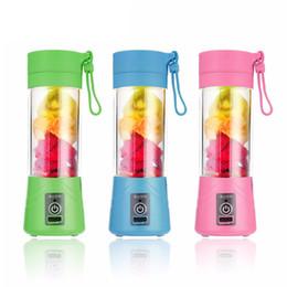Spremitore di bottiglia online-Bottiglia di spremiagrumi ricaricabile USB da 380 ml Tazza di succo Frullatore di agrumi Frutto di limone Frutta Frullato Frullato Spremiagrumi Bottiglia alesatore