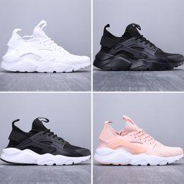 2019 mens huarache Nova Huarache Mens Sneakers Para Womens Alta Qualidade Preto Branco Designer Haraches Run Ultra 4 Formadores Athletic Running Shoes US5.5-11 desconto mens huarache