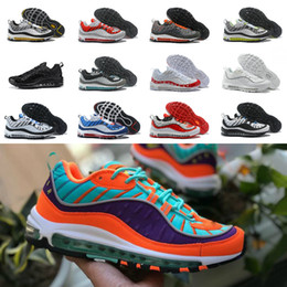 air sneakers max Coupons - 2019 New Airs OG 98 Gundam X Bullet Off Black White Red Running Shoes 98S Dragon Ball Mens Fashion Retro Brand cheap Maxes Trainer Sneakers