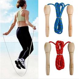 2020 cordas de salto longo específico do Estudante Sports Academia da corda de salto 1 Pcs Raw Madeira Handle Skipping Rope Skipping Cotton Long Jump cordas de salto longo barato