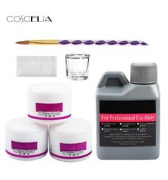 2019 наборы кистей для ногтей 7 pcs/Set Acrylic Nail Kit Nail Art Tools Kit Set Acrylic Crystal Powder Acrylic Nail Brush дешево наборы кистей для ногтей