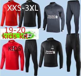 Xs ternos para homens on-line-Homem liverpool kids Treino de Futebol 2019 Adult salah Trilhas de Treinamento de Futebol Adulto 19 20 Treino de Futebol Treino de Futebol Tuta Chandal