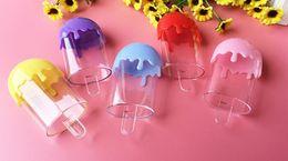 2019 caja de regalo de helado Creativo Helado De Plástico Cajas de Dulces Baby Shower Fiesta de Cumpleaños Infantil Cajas de Regalo Presentes Favores Envolver colorido Mesa de Boda Decarations rebajas caja de regalo de helado