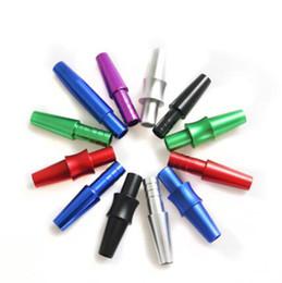 adaptateurs de tuyau Promotion Coloré Alliage D'aluminium Joint Connecteur Adaptateur Portable Conception Innovante Pour Diamètre 12mm Narguilé Shisha Fumer Tuyau Silicone Tuyau DHL