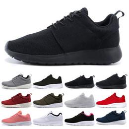 Zapatillas más bajas online-nike roshe run one Nuevo Tanjun 1.0 3.0 Run Running Shoes hombre mujer negro bajo Ligero Transpirable London Olympic Sports Sneakers para hombre Entrenadores tamaño 36-45