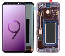 SÜPER AMOLED SAMSUNG Galaxy S9 G960 S9 Artı G965 Dokunmatik Ekran Sayısallaştırıcı Meclisi için Frame sayesinde Yanık-Gölge LCD Has nereden asus dokunmatik ekran onarımı tedarikçiler