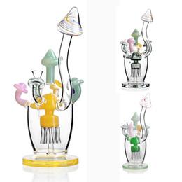 """Домовые трубы онлайн-Bong Colored Mushroom house dab rig стеклянная водопроводная трубка для курения 14.4 кальянная нефтяная вышка 9 """"высотой"""
