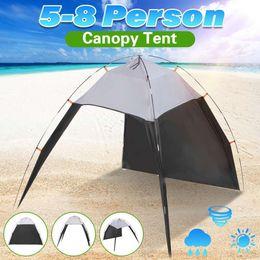 палатка ветрозащитная Скидка 5-8 человек беседка ветрозащитный открытый палатка лето УФ брезент солнцезащитный козырек кемпинг Рыбалка треугольник пляж кабана палатка навес портативный
