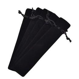 50 pezzi in velluto nero con astuccio per penna, custodia per astuccio, singolo astuccio per penne da supporto giallo della penna fornitori