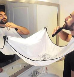 d trim Desconto Homem Casa de Banho Barba Bib Moda menino de Alta-Grade À Prova D 'Água de Poliéster Pongee Barba Cuidado Aparador de Cabelo Shave Avental 120x80 cm LXL140
