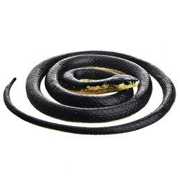 Cobra de brinquedo de borracha on-line-Borracha preta mamba cobra brinquedo jardim adereços 52 polegadas de comprimento