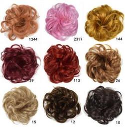 Наращивание волос на основе смешанных волокон онлайн-Mix Colores Fashionate Cross Border Резиновая лента Химическое волокно Colores Chignons Наращивание волос Продукты для волос HA126