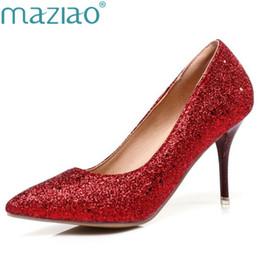 Argentina Zapatos de vestir de diseño MAZIAO mujer tacones altos de la boda de la señora plataformas de cristal de plata Glitter rhinestone nupcial del talón delgado bomba de la fiesta Suministro