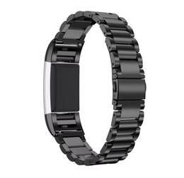 Наручные часы онлайн-Металлические сменные ремешки для часов с ремешками из нержавеющей стали для браслета-ремешка Compatilbe для Fitbit Charge 2