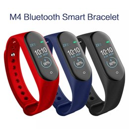 pk fitbit Coupons - M4 Smart Band Fitness Tracker Watch Sport bracelet Heart Rate Smart Watch Fitbit 0.96 inch Smartband Monitor Health Wristband PK mi Band 4