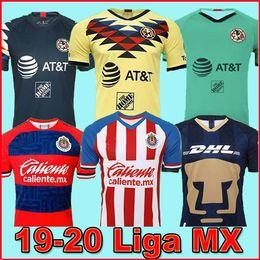 Chivas guadalajara jersey online-LIGA MX 2019 20 Maglie di calcio Club America 2020 Club de Cuervos Home Away Terzo kit UNAM Guadalajara Chivas Maglia 19 20 Maglie di calcio