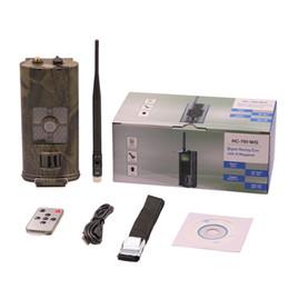 Kamera sms mms online-SUNTEKCAM Wilde 3G Jagd Trail Kamera Überwachungskameras HC700G MMS SMS 16MP 1080P Infrarot Wildlife Phototraps