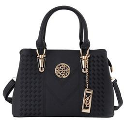 2020 bolso de mano bordado de cuero Bordado Bolsas de mensajero de las mujeres Bolsos de cuero Bolsos para mujeres 2019 Sac a Main Ladies Hand Bag rebajas bolso de mano bordado de cuero