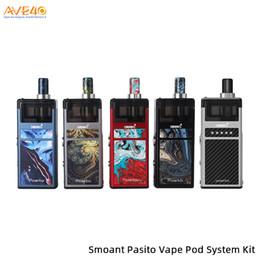 Vito on-line-Original Smoant Kit Vito Pod Vito Pasito com 1100 mAh Construído em Bateria de 3 ml Capacidade de Pasito Pod v vaporesso zero