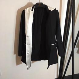 2019 vêtements de célébrités blazer robe marque femmes blazers costume avec bouton unique célébrité noir femmes veste veste vêtements de travail costume décontracté blazers femmes vêtements vêtements de célébrités pas cher