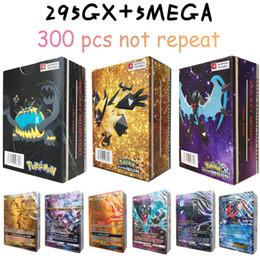 jogos de tabuleiro de bebê Desconto Poket monstro Flash Cards 300pcs originais (295GX 5Mega) Coleção cartões comerciais para divertimentos presente das crianças Inglês versão Toy