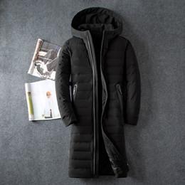 2019 weißer gefüllter mantel Business Casual Herren Herren Daunenjacke Volltonfarbe Dicke Weiße Ente Daunenmantel Gefüllt X-Large Size Herren Winterbekleidung günstig weißer gefüllter mantel