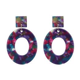 Argentina Hot New Earrings Pendientes de acrílico para mujer Pendientes de moda vintage Pendiente de la tendencia para las mujeres Suministro