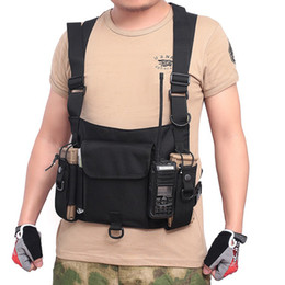 2020 rádios táticos Tactical Radio Vest equipamento de caça Chest Rig Walkie-Talkie cintura Bag Bolsa Outdoor Sports CS Paintball Coletes rádios táticos barato