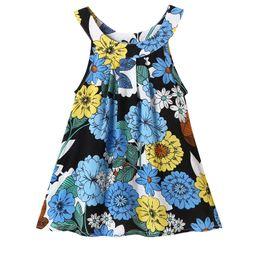 Старая детская жилетка онлайн-NEW Модные летние дети новорожденных девочек без рукавов печати жилет пляжное платье удобное и легкое 0-4 лет