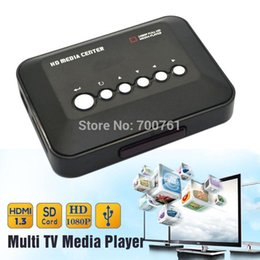 multi tv media player Coupons - 1080P Full HD SD MMC TV Videos SD MMC RMVB MP3 Multi TV USB HDMI Media Player with Remote Control