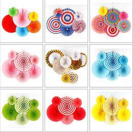 Party di appendere della ventola di carta online-Creativo decorativo Wedding Party Paper Crafts Fan di carta DIY appeso carta velina fiore per la festa di compleanno di nozze Festival forniture anche